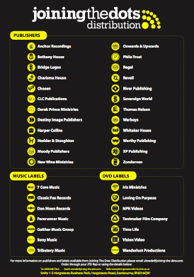Joining the Dots: Publishers and Labels Supplied, March 2014 (pdf, 471kb)