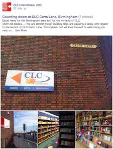 CLC Bookshops facebook photos: Counting down at CLC Carrs Lane, Birmingham