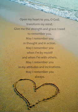 Forgetful Heart Prayer Postcard